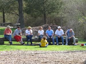 Sales team on outdoor adventure