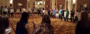 interactive activity during a convention