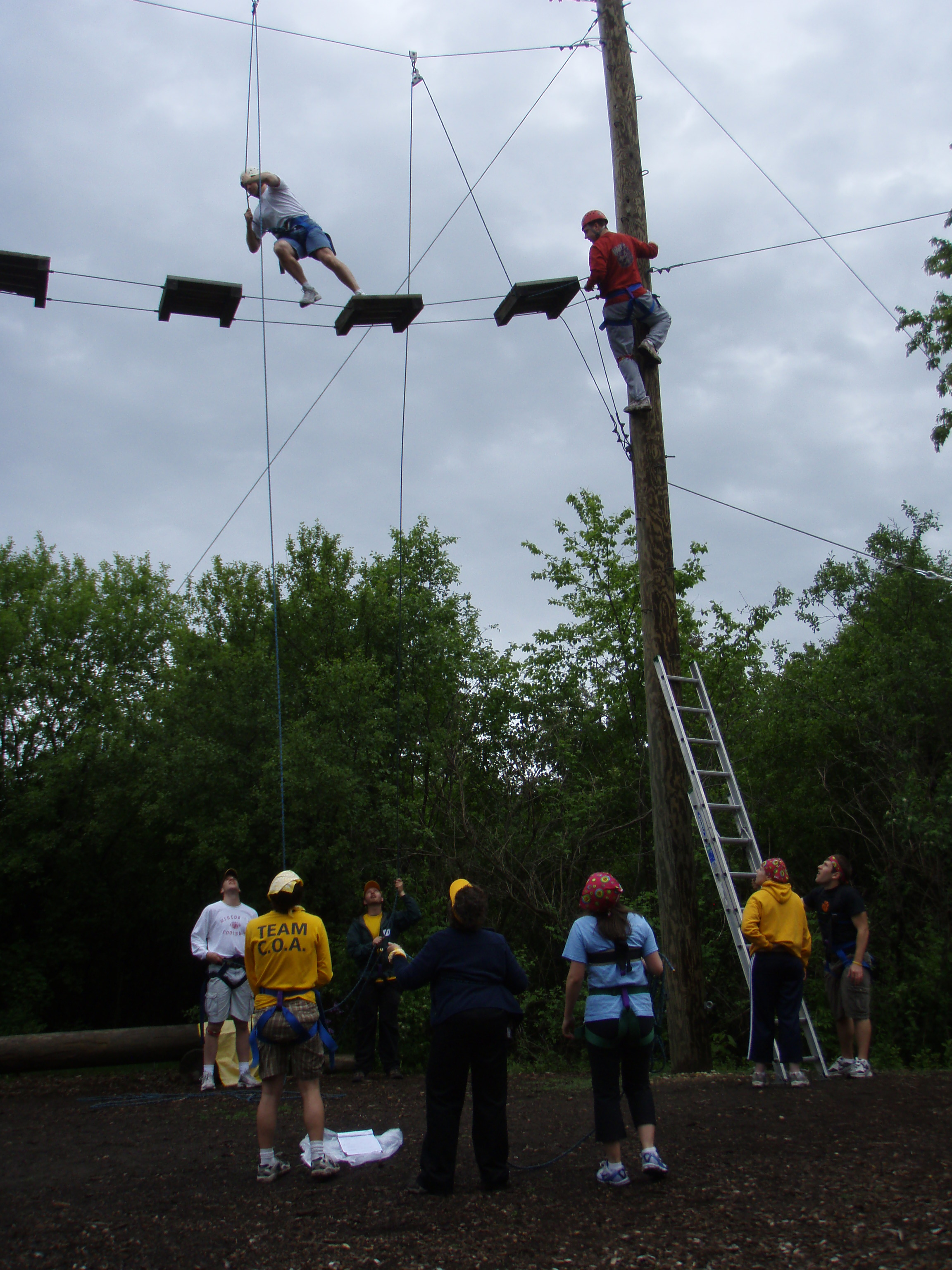 Teambuilding Ropes Course Near Waukesha Milwaukee
